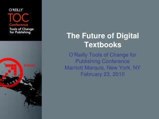 The Future of Digital Textbooks