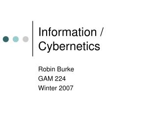Information  Cybernetics