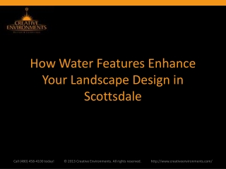 How Water Features Enhance Your Landscape Design in Scottsda