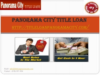 panorama city auto title loans