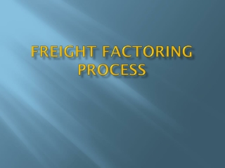 Freight Factoring Process