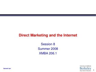 Direct Marketing and the Internet