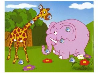 Giraffe and Ele