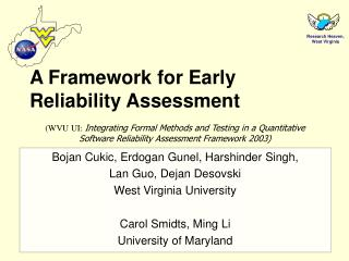 A Framework for Early Reliability Assessment