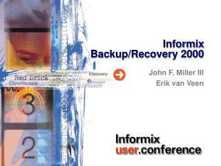 Informix Backup/Recovery 2000