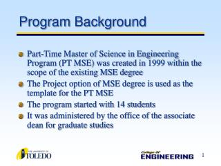 Program Background
