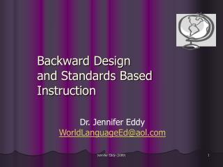 Backward Design and Standards Based Instruction