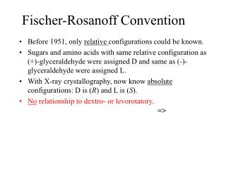 Fischer-Rosanoff Convention