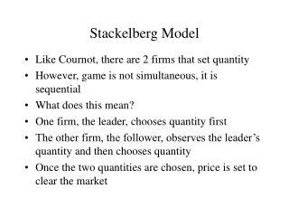 Stackelberg Model