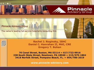 Rachel J. Roginsky, ISHC Daniel C. Hanrahan II, MAI, CRE Gregory T. Bohan 76 Canal Street, Boston, MA 02114 ~ 617/722-99
