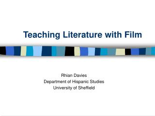 Teaching Literature with Film
