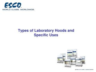 Types of Laboratory Hoods and Specific Uses