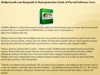halfpricesoft.com responds to data-protection needs of payr