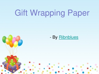 Explore your creativity using gift wrapping paper