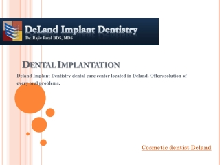 Cosmetic dentist deland