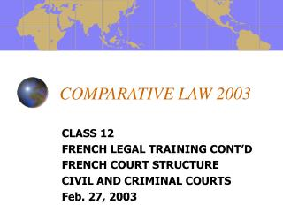 COMPARATIVE LAW 2003