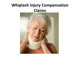 Whiplash injury compensation claims