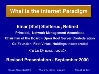 What is the Internet Paradigm