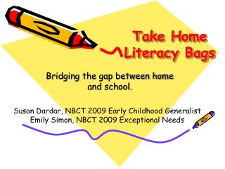 Take Home Literacy Bags