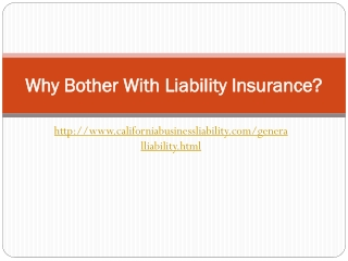 A brief note on Liability Insurance