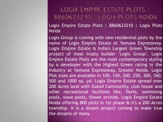 logix empire estate plots | 8860623210 | logix plots noida
