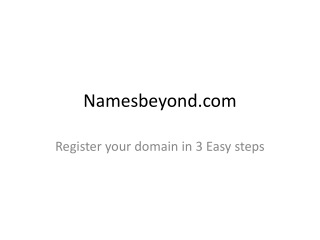 Namesbeyond - Domain  Registration steps