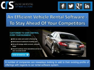 An Efficient Vehicle Rental Software - To Stay Ahead Of Your