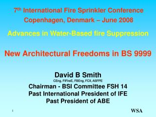 Advances in Water-Based fire Suppression