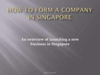 How to form a company Singapore
