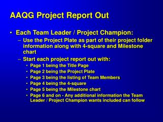 AAQG Project Report Out
