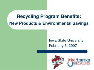 Recycling Program Benefits: New Products & Environmental Savings