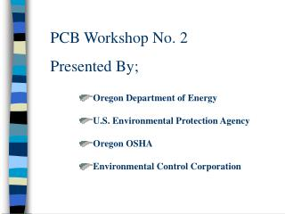 PCB Workshop No. 2 Presented By;
