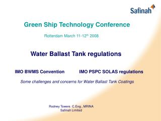Green Ship Technology Conference