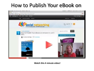 How to publish your ebook on amazon in 5 mins