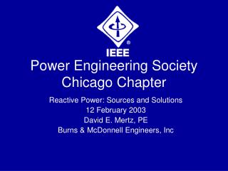Power Engineering Society Chicago Chapter