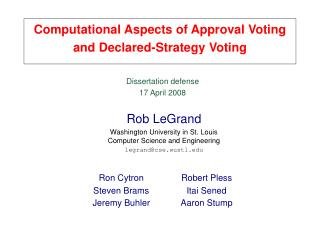 Computational Aspects of Approval Voting and Declared-Strategy Voting