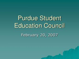 Purdue Student Education Council