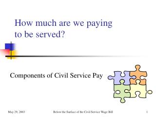 How much are we paying to be served?