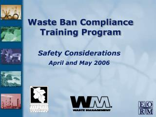 Waste Ban Compliance Training Program