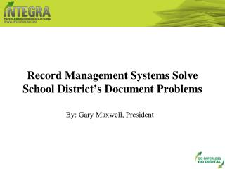 record management systems solve school district's document p