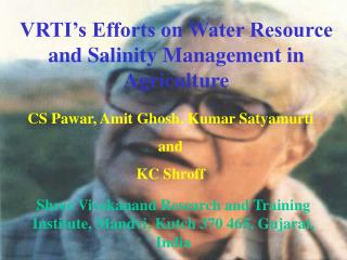 VRTI's Efforts on Water Resource and Salinity Management in Agriculture
