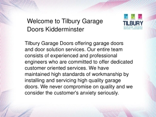 Garage Doors Kidderminster