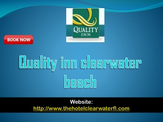 Quality inn clearwater beach