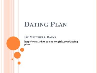 dating plan
