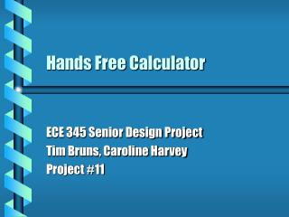 Hands Free Calculator