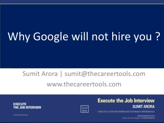 Why google will not hire you ?