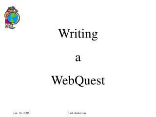 Writing a WebQuest