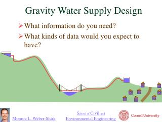 Gravity Water Supply Design