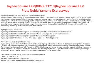 jaypee square east{8860623210}jaypee square east plots yamun