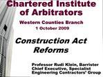 THE DRAFT CONSTRUCTION BILL